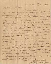 031. Nathaniel Heyward (II) to Mother-in-Law -- June 20, 1819