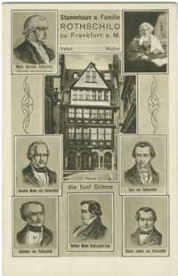 Stammhaus u. Familie Rothschild zu Frankfurt a. M.