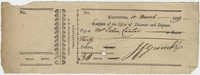 Cashier's Check from John F. Grimke to John Cantor, March 10, 1809