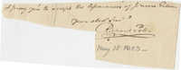 Thomas S. Grimke Autograph Collection, autograph of Richard Peters of the Continental Congress and Judge from Pennsylvania, May 15, 1803