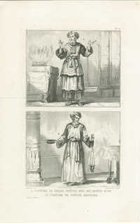 Costume de Grand Prêtre avec ses habits d'or / Costume de prêtre ordinaire