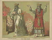 The High Priest. In linen robe and girdle. In garments of glory and beauty.