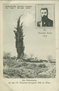 Zur Erinnerung an den 14. Zionisten-Kongreß 1925 zu Wien