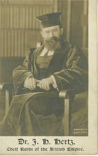 Dr. J. H. Hertz, Chief Rabbi of the British Empire