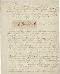 Thomas S. Grimke Autograph Collection, autograph of Edward Braddock, Commander of the British Army, April 17, 1755