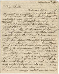 Letter to Thomas S. Grimke from Judge Frederick Grimke on the death of their father, 1819