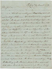Thomas S. Grimke Autograph Collection, letter from Thomas Fitzsimmons to Robert Christie, March 23, 1779