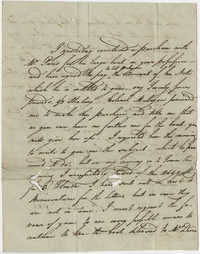 Thomas S. Grimke Autograph Collection, Letter from Raymond Demere to Josiah Talmall, December 10, 1783
