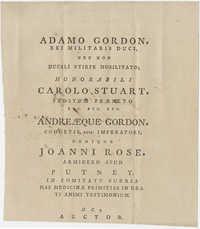Thomas S. Grimke Autograph Collection, autograph of Doctor Thomas Girdlestone, May 16, 1787