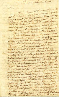 Letter from James Mitchell Varnum to Nathanael Greene