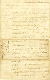 Letter from Otho Holland Williams to Nathanael Greene