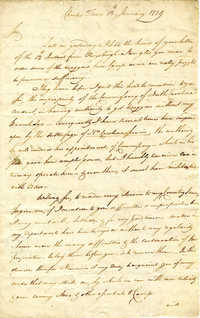 Letter from Stephen Drayton to Benjamin Lincoln