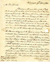 Letter from Henry Laurens to Benjamin Lincoln