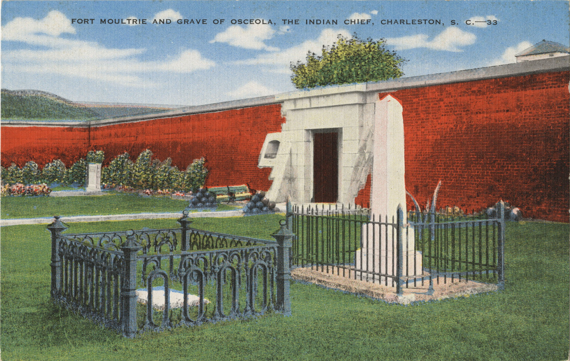 Fort Moultrie and Grave of Oceola, the Indian Chief, Charleston, S.C.