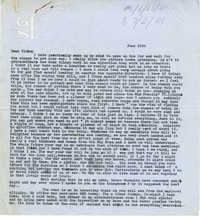 Letter from Gertrude Sanford Legendre, June 25, 1943