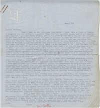 Letter from Gertrude Sanford Legendre, March 1, 1943