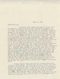 Letter from Sidney Jennings Legendre, March 7, 1943