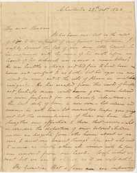 042. Nathaniel Heyward to Mary Barnwell -- October 28, 1823