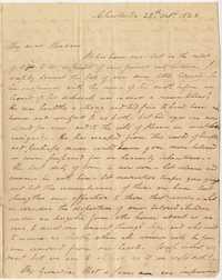 042. Nathaniel Heyward to Mary Barnwell -- October 28, 1823