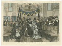 A Jewish wedding: a sketch at the synagogue, Duke Street, Aldgate