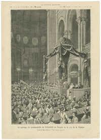 Le mariage de mademoiselle de Rothschild au Temple de la rue de la Victoire