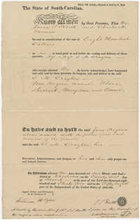 Bill of Sale to S.M. Drayton [Sarah Marie Drayton] for the purchase of four slaves, March 21, 1834