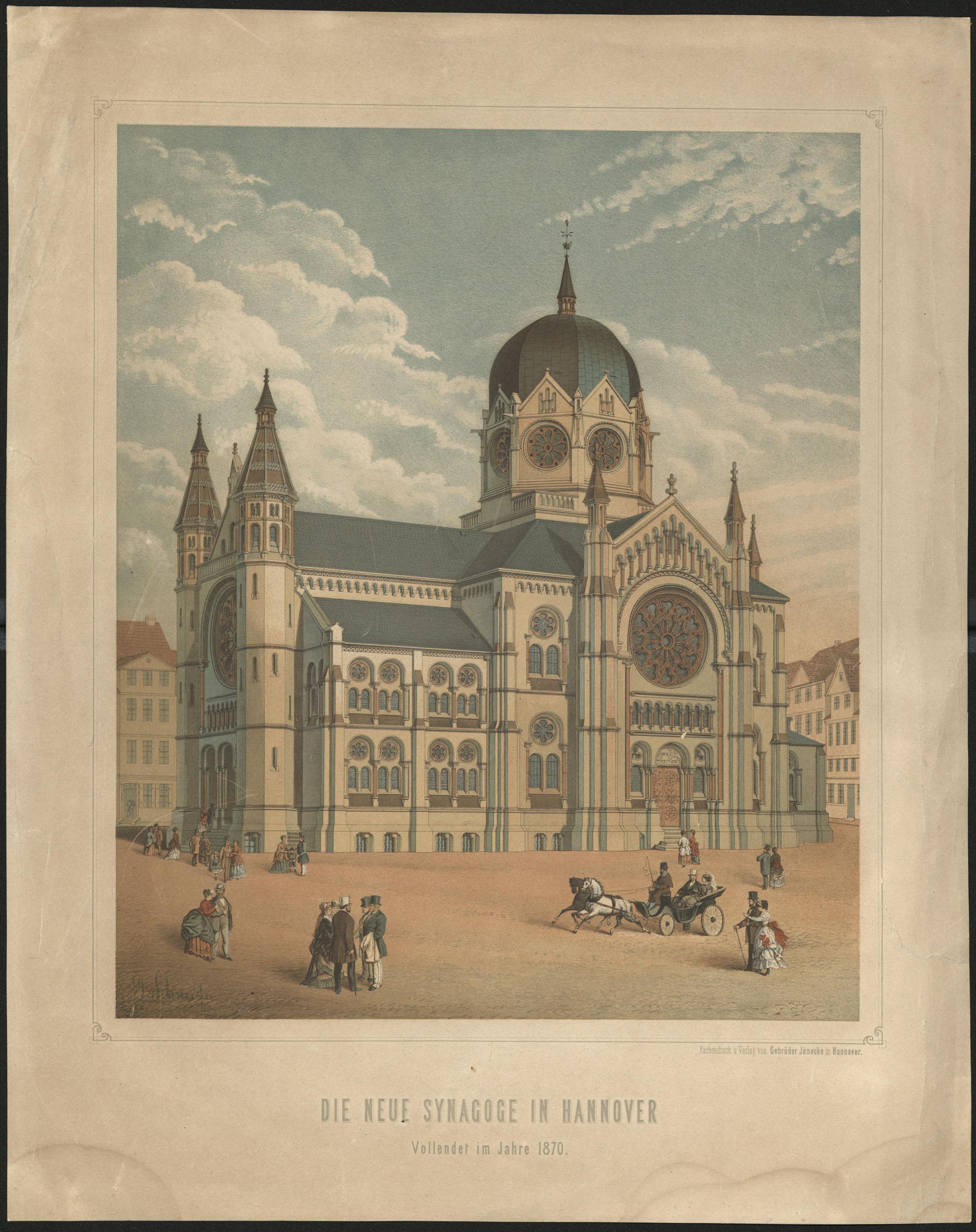 Die neue Synagoge in Hannover