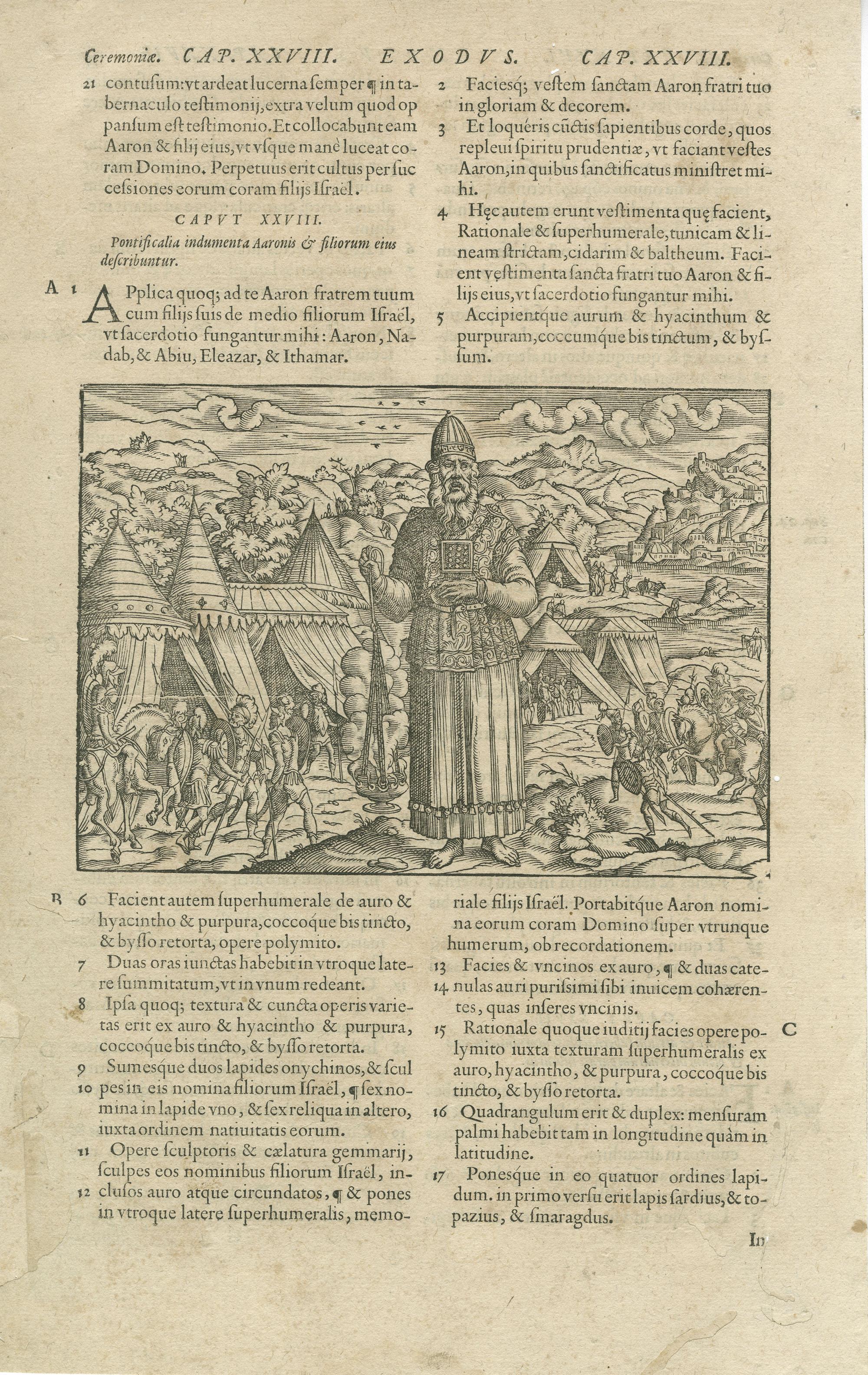 Pontificalia indumenta Aaronis & filiorum eius describuntur