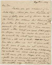 Letter to Thomas S. Grimke from Benjamin Elliot, August 5, 1833