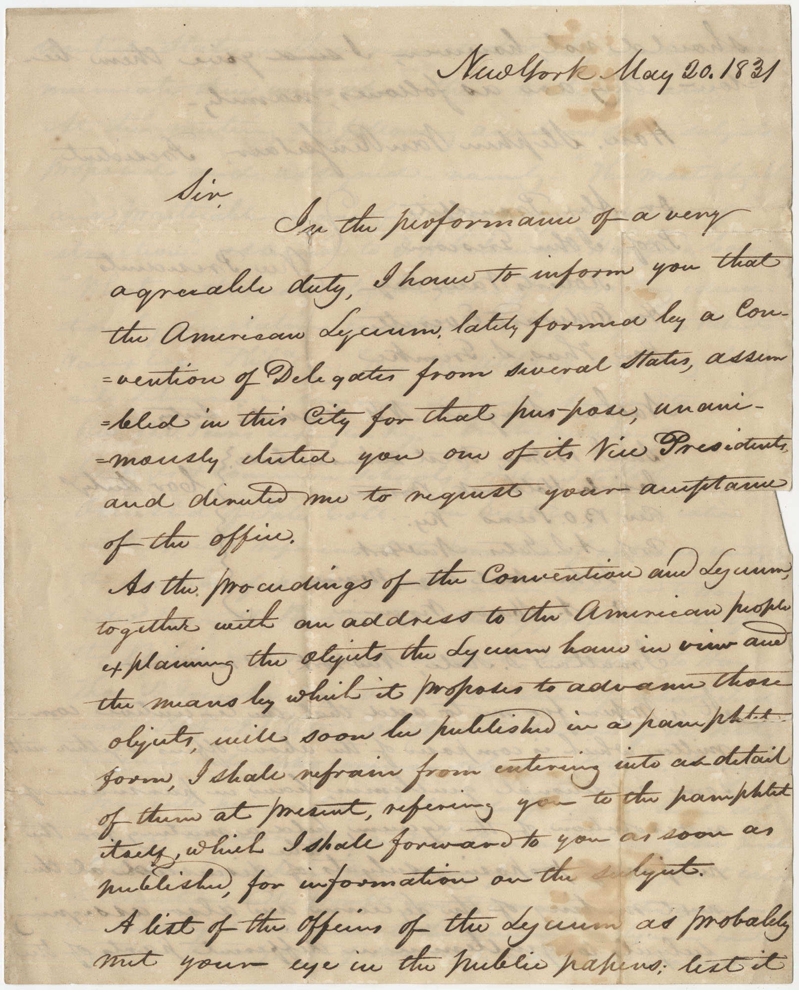 Letter to Thomas S. Grimke from Nathaniel Sargent, May 20, 1831