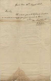 Letters exchanged between General Robert Howe, General Gadsden, and John F. Grimke, August 1778