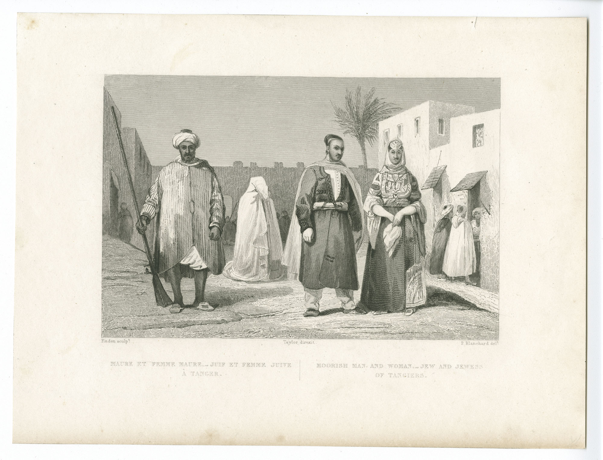 Maure et femme maure - Juif et femme juive à Tanger / Moorish  man and woman - Jew and Jewess of Tangiers