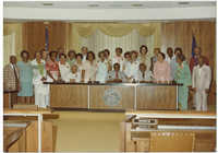 Avery Class of 1932 in County Council Office with Chairman