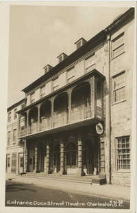 Entrance. Dock Street Theatre. Charleston, S.C.
