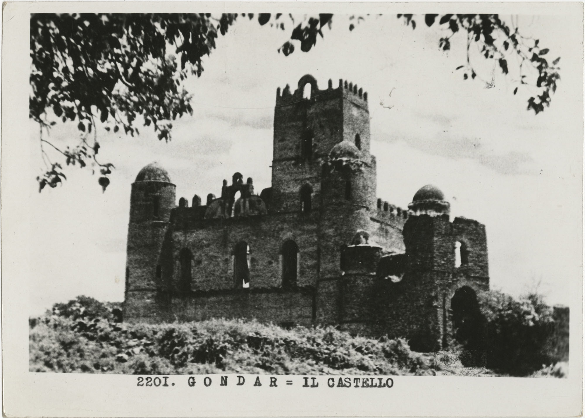 A castle's ruins in Gondar, Ethiopia