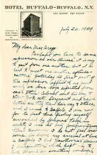 Letter from Fong Lee Wong to Laura M. Bragg, July 26, 1929