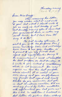 Letter from Fong Lee Wong to Laura M. Bragg, March 7, 1929