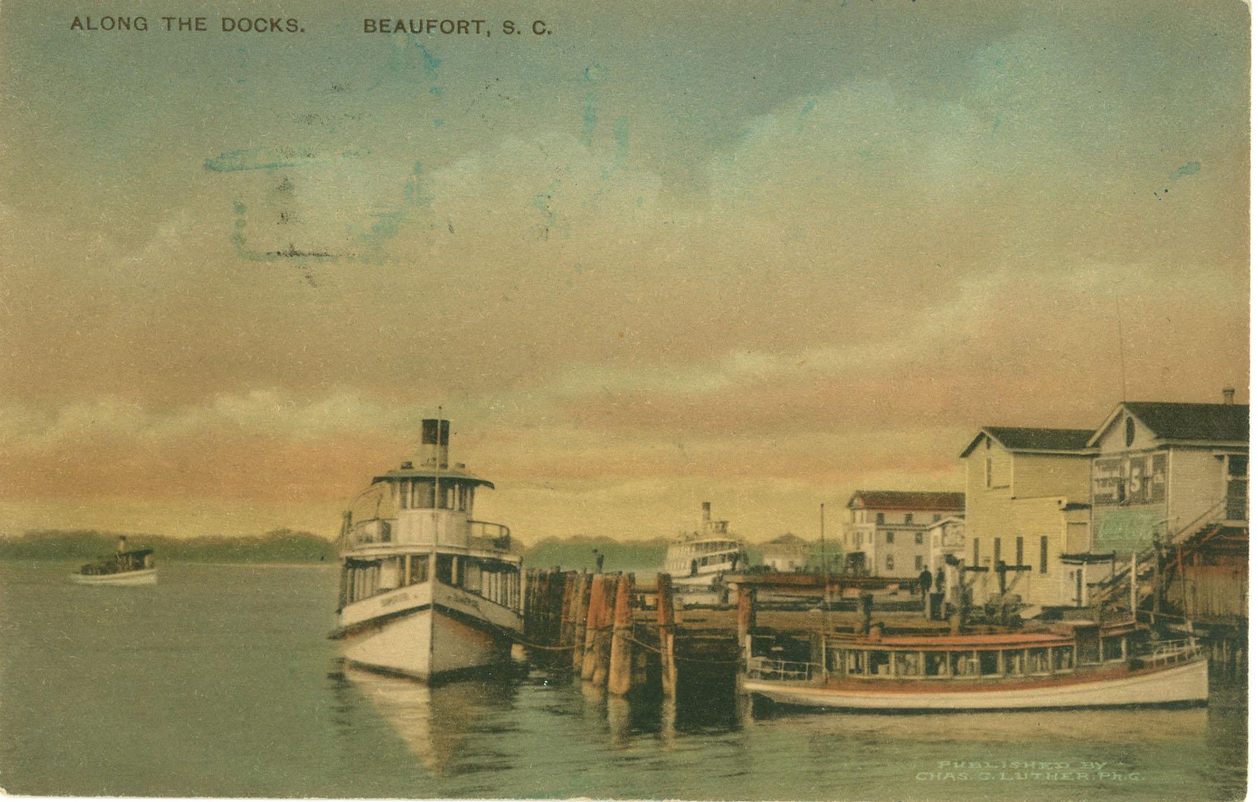 Boats by the Docks in Beaufort