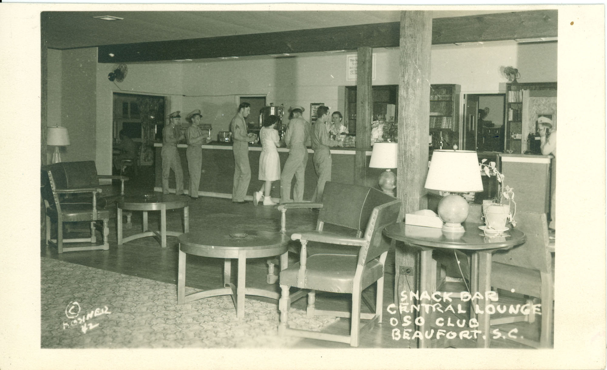Snack Bar Central Lounge U.S.O Club  Beaufort, S.C.