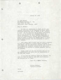 Letter from William Saunders to Jack Haskell, October 30, 1978