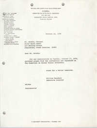 Letter from William Saunders to Mr. Brooks, October 18, 1978