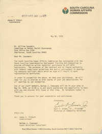 Letter from Earl F. Brown, Jr. to William Saunders, May 16, 1979