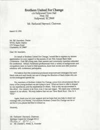 Letter from Nathaniel Heyward to William Saunders, March 19, 1993