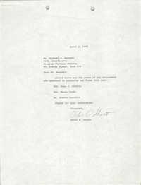 Letter from Debra A. Shortt to Michael S. Barnett, April 2, 1979