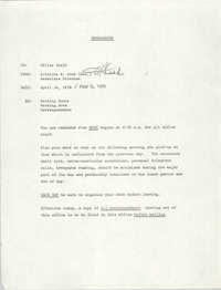 COBRA Memorandum, April 14, 1976