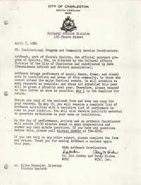 City of Charleston Memorandum, April 7, 1980