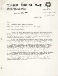Trident United Way Memorandum, October 3, 1980