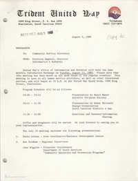 Trident United Way Memorandum, August 4, 1980