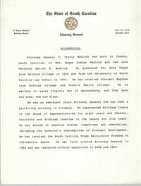 Attorney General T. Travis Medlock Biographical Information
