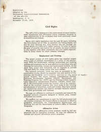 Resolution Adopted by the Thirteenth Constitutional Convention, November 1979